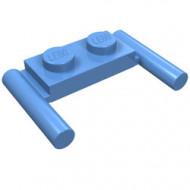 3839b-42 Platte plaat 1x2- 2 hendels lagere setting blauw, midden NIEUW *1L319/11