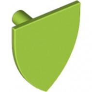 3846-34 Schild driehoek zonder opdruk lime NIEUW *0L0000