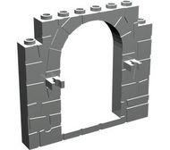 40242-86 Deur 1x8x6 Frame met steenpatroon en 2 clips grijs, licht (blauwachtig) NIEUW *