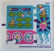 41127stk01 STICKER FRIENDS Amusement Park Arcade NIEUW loc