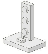 4169-1G Signaal verbindingsstuk 2x2-1x3 Wit gebruikt loc