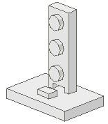 4169-1G Signaal verbindingsstuk 2x2-1x3 wit gebruikt *