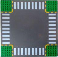 44343pb01-6G Wegenplaat 32x32 kruispunt groen gebruikt *3K000