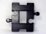4665-11G DUPLO Treinrail recht lheel kort (2 bielsen) Zwart gebruikt loc