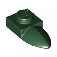 49668-80 Platte plaat 1x1 met tand IN VERLENGDE groen, donker NIEUW *1L290/3