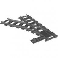 53407-85G Trein, Rails RC wissel links ZONDER hendel (Rail zonder electrische geleiding, voor RC trein) grijs, donker (blauwachtig) gebruikt *