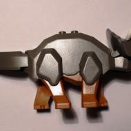 4465c02-10 Triceratops oranje poten Grijs,donker(classic) NIEUW loc