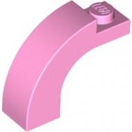 6005-104 Steen, boog 1x3x2 boven rond 1 nop bovenop roze, helder NIEUW *1L000