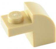 6091-2E EUROVOORDEEL:6x Steen 2x1 met afgeronde kop en nop crème NIEUW loc