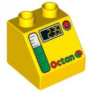 6474pb24-3 DUPLO dakpan 2x2 OCTAN (pompmeter) geel NIEUW *