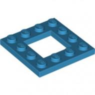 64799-153 Platte plaat 4x4 met gat 2x2 blauw, donkerazuur NIEUW *1L0000