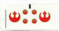 7668stk01 STICKER STAR WARS Rebel Scout Speeder NIEUW *0S0000
