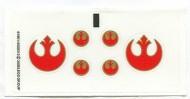 7668stk01 STICKER STAR WARS Rebel Scout Speeder NIEUW loc