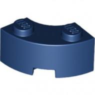 85080-63 Steen 2x2 gebogen (Macaroni) NIEUWE STIJL (andere bodem) blauw, donker NIEUW *1B000