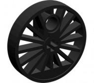 85489a-11 Treinwiel GROOT 30 mm. Blind zwart NIEUW *
