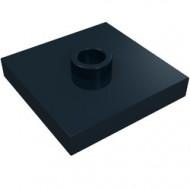 87580-11 Platte plaat 2x2 1 centrale nop zwart NIEUW *1L235