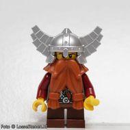 cas357 Fantasy Era - Dwerg 4, zilveren helm met vleugels NIEUW loc