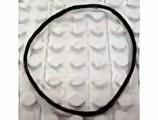 x138-11G Rubber bandje`(5 nops doorsnede) Geel gebruikt loc