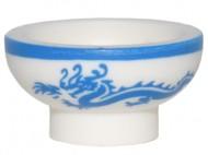 34172pb02-1 Aziatische kom met blauwe draak Wit NIEUW loc