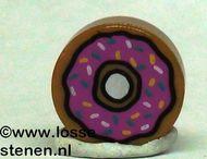 98138pb021-150 Tegel 1x1 ROND Dougnut caramel, midden NIEUW *