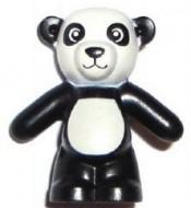 98382pb003-11 Teddybeer/Panda  (voorpoten naar beneden) Zwart NIEUW loc