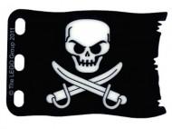 bb511pb02-11G Vlag 8x5 Zwart met schedel zwart gebruikt *5K000