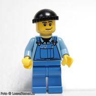 boat011 Bootsman- zwarte knit, blauwe overall met gereedschap en blauwe broek NIEUW loc