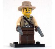 col01-16 Cowboy met pitool en voetsuk NIEUW *0M0000