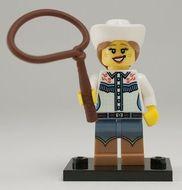 col08-4 MINIPROMO Cowgirl met lasso en standaard NIEUW loc