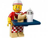 col17-6 Hot Dog Man met dienblad met hotdog en drinkbeker en standaard NIEUW *0M0000