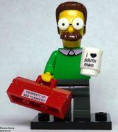 colsim-7 Ned Flanders met gereedschapskoffer en kopje 'south pawns NIEUW loc