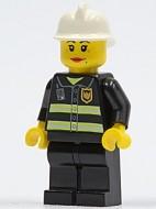 cty0120 Brandweervrouw reflectiestrepen witte helm- vrouw (ass2011) NIEUW loc