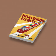 CUS1069 Trans Europa Express wit NIEUW loc Treinen