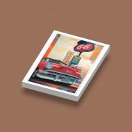 CUS1078 Café Route 66 USA wit NIEUW Auto's