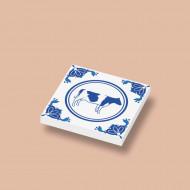 CUS3038 Tegel 2x2 Delfts Blauw - Koe wit NIEUW *0A000
