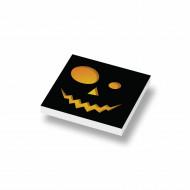 CUS3051 Tegel 2x2 HALLOWEEN Pumpkin Head 2 wit NIEUW *0A000
