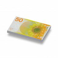CUSE8153 Tegel 1x2 50 gulden Zonnebloem wit *0A000