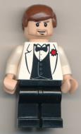 iaj024G Indiana Jones- Witte Tuxedo jas gebruikt *0M0000