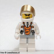 mm009 Plain witte Torso met witte armen, Black benen, bruine Male Hair gebruikt loc