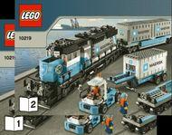 Set 10219 BOUWBESCHRIJVING- Maersk trein NIEUW loc LOC M6