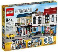 Set 31026 - Buildings: Fietsenwinkel en café- Nieuw
