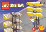 Set 3313 BOUWBESCHRIJVING- Voetbal lichtpalen gebruikt loc LOC M1