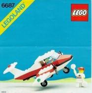 Set 6687 BOUWBESCHRIJVING- Turbo Prop Helikopter gebruikt loc LOC M3