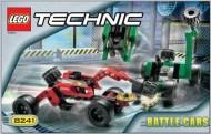 Set 8241 BOUWBESCHRIJVING- Battle Cars Technic gebruikt loc loc box1
