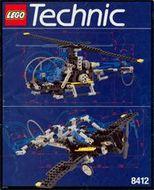 Set 8412 BOUWBESCHRIJVING- Nighthawk Technic Pneumatica gebruikt loc