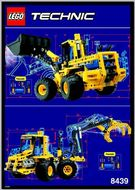 Set 8439 BOUWBESCHRIJVING- Front End Loader Technic Pneumatica gebruikt loc