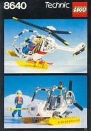 Set 8640 BOUWBESCHRIJVING- Arctic Rescue Base gebruikt loc LOC M7