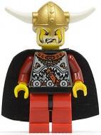 vik005G Vikingen- Koning met zwarte cape gebruikt *0M0000