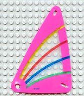 x772px3-12G Zeil 9x15 Roze rand met blauw, groen en geel (plastic) transparant gebruikt *5D000