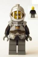 cas334G Fantasy Era- Knecht met borstplaat, helm met grill gebruikt loc
